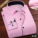 冬季加绒工装粉色拉条B1677