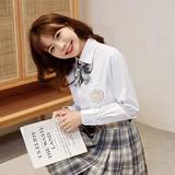 JK金熊女长袖白色平纹