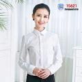15新款女工装15621(白色隐条纹正领)