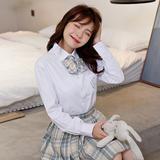 JK紫熊女长袖白色平纹