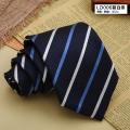 领带LD006蓝白条