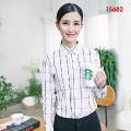 女纯棉休闲格子15682