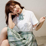JK银熊女短袖白色平纹